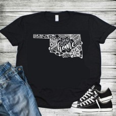 Oklahoma Mandala Design T Shirt