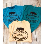 Support Ranchers Oil Washed T Shirt